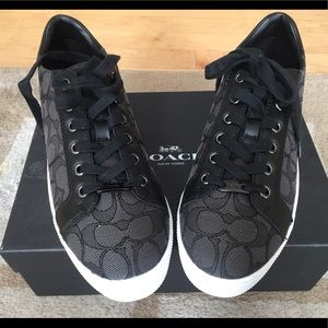 Coach Shoes - NEW IN BOX COACH PADDY BLACK SNEAKERS SZ 8